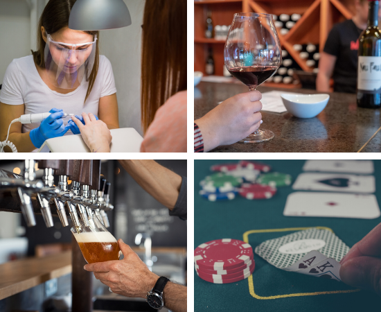 Nail Salons, bars, wineries and card rooms reopen