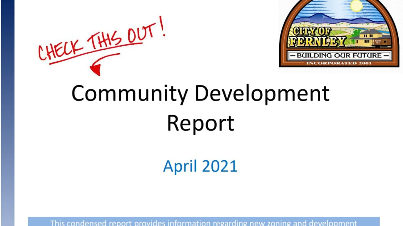April 2021 Community Development Report