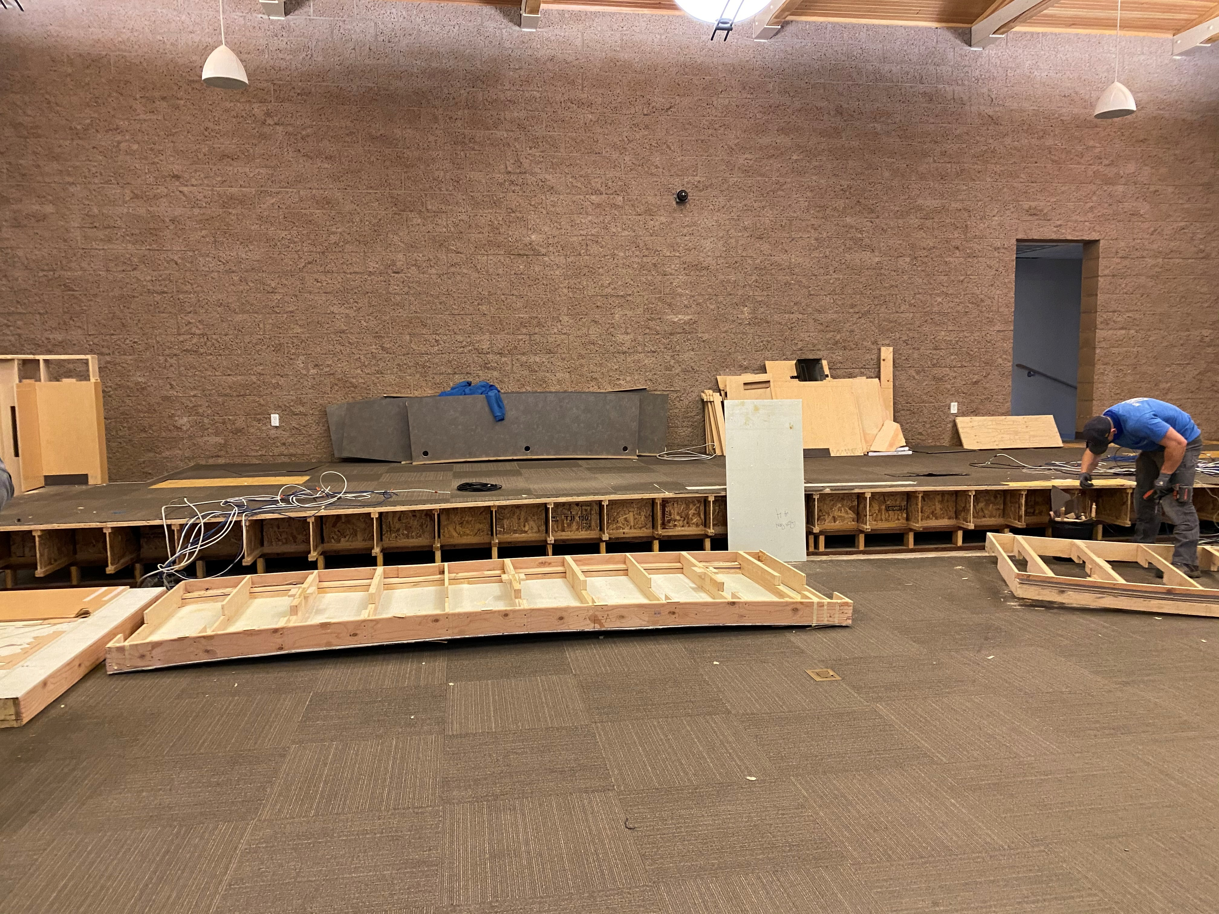 Council chambers reconstruction during
