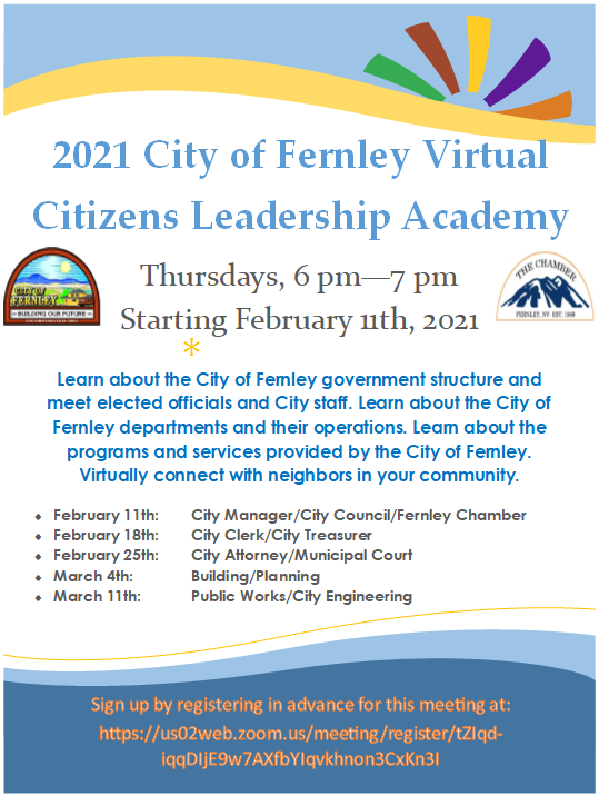 2021 City of Fernley Virtual Citizen's Leadership Academy