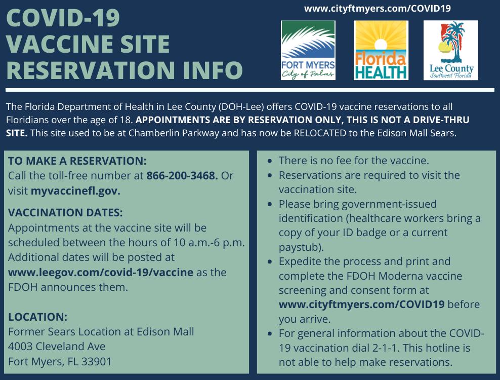 New Vaccine Site at Edison Mall Sears Location
