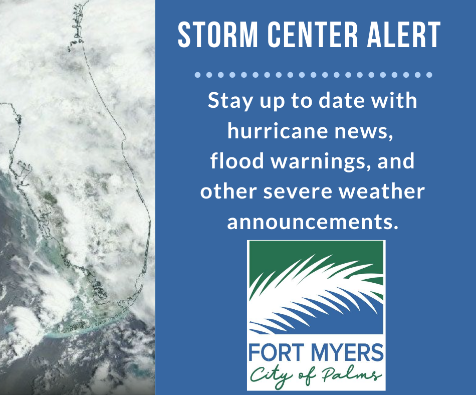 City of Fort Myers storm center alert graphic