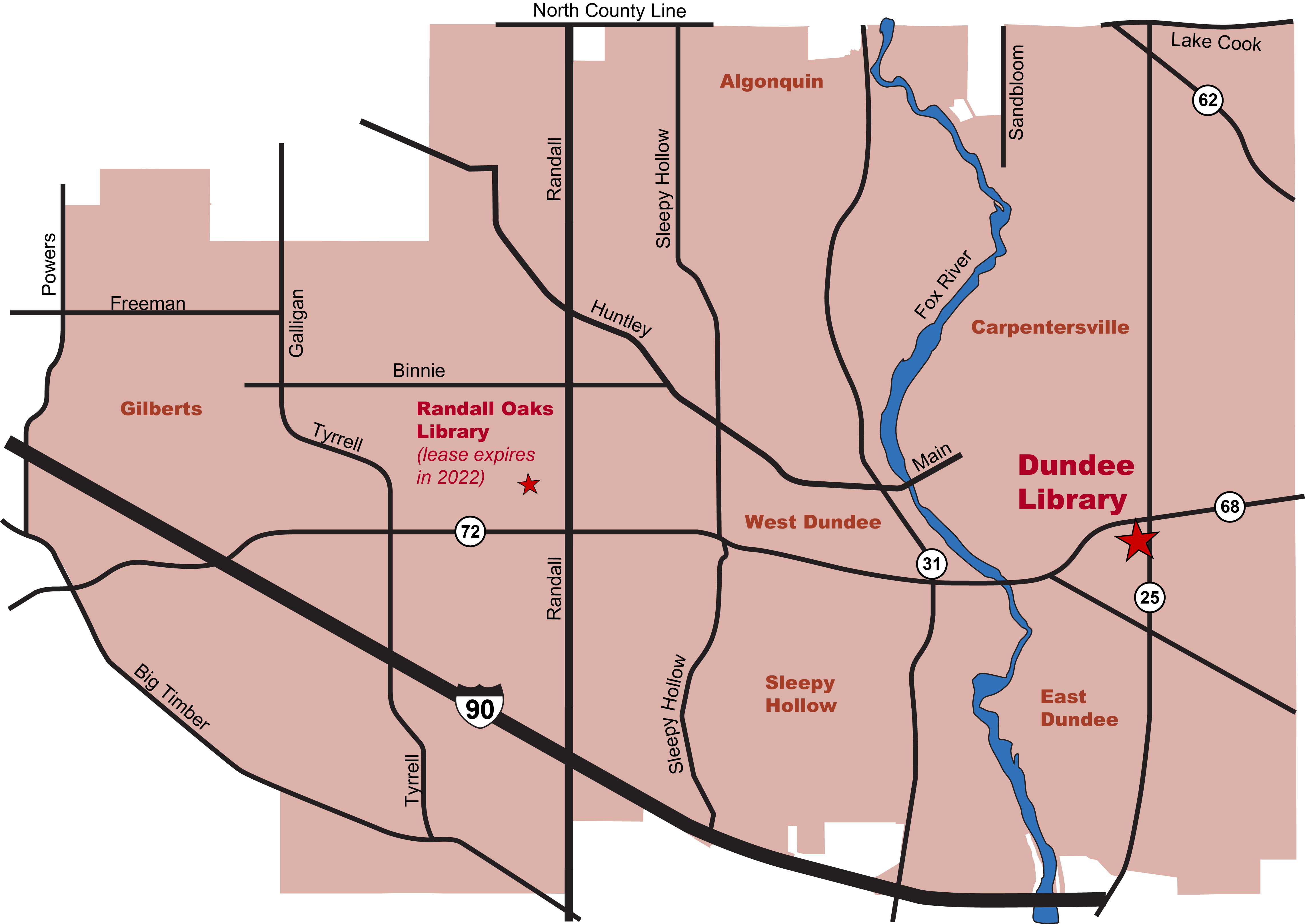 Fox River Valley Public Library District Map