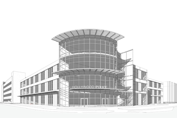 Rendering of the proposed new Hollywood Police Station