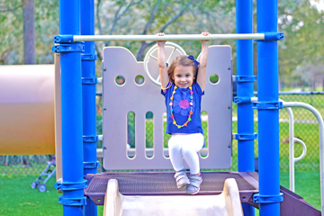 Girl play on playground