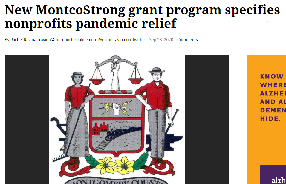 Montco Strong Nonprofit Grant Program - Reporter Article