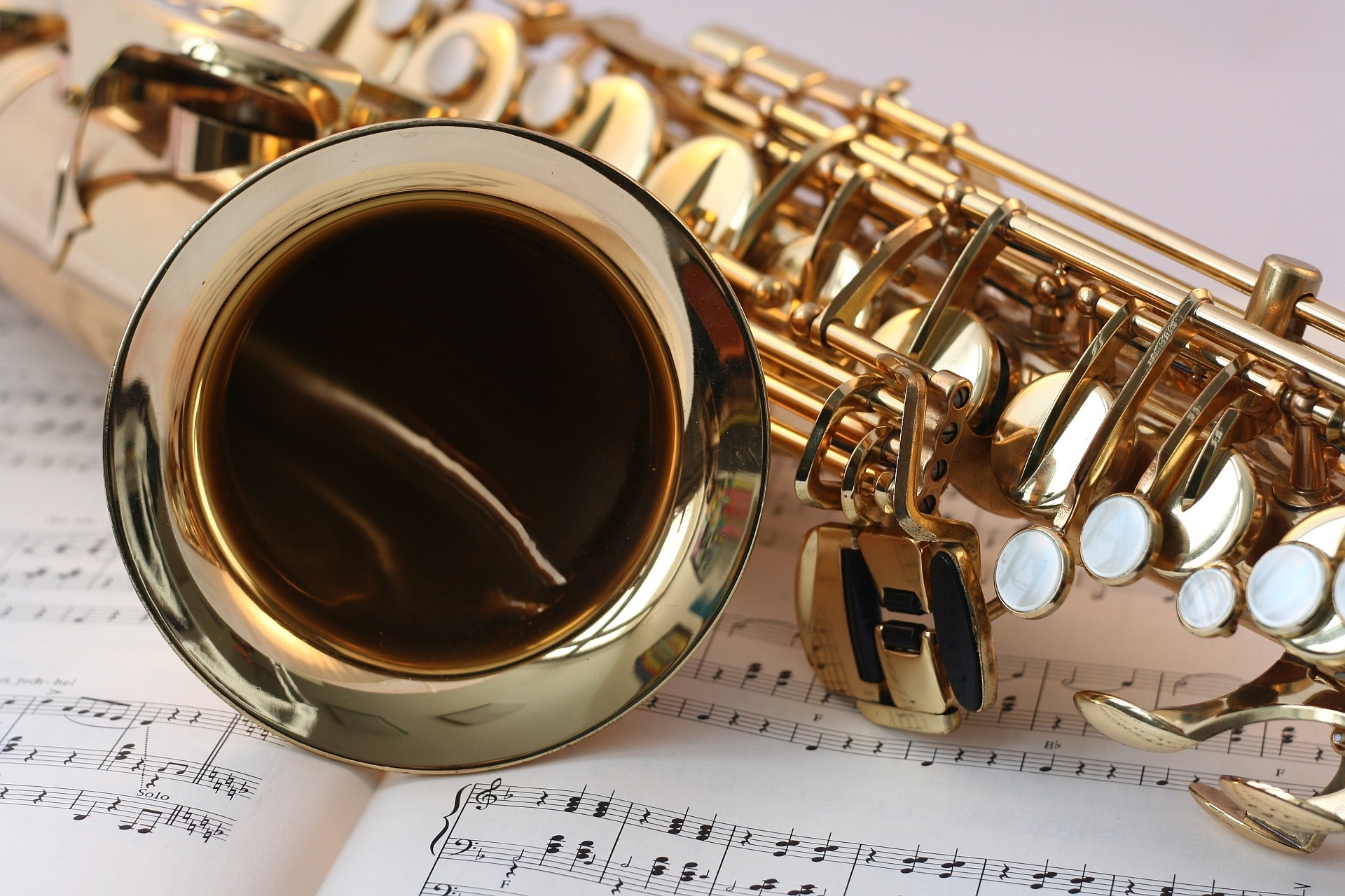 Saxophone with music