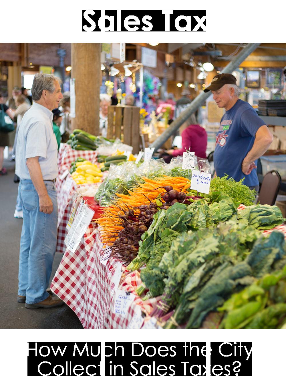 Customer and Vendor at Farmers Market