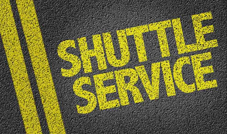 shuttle service sign