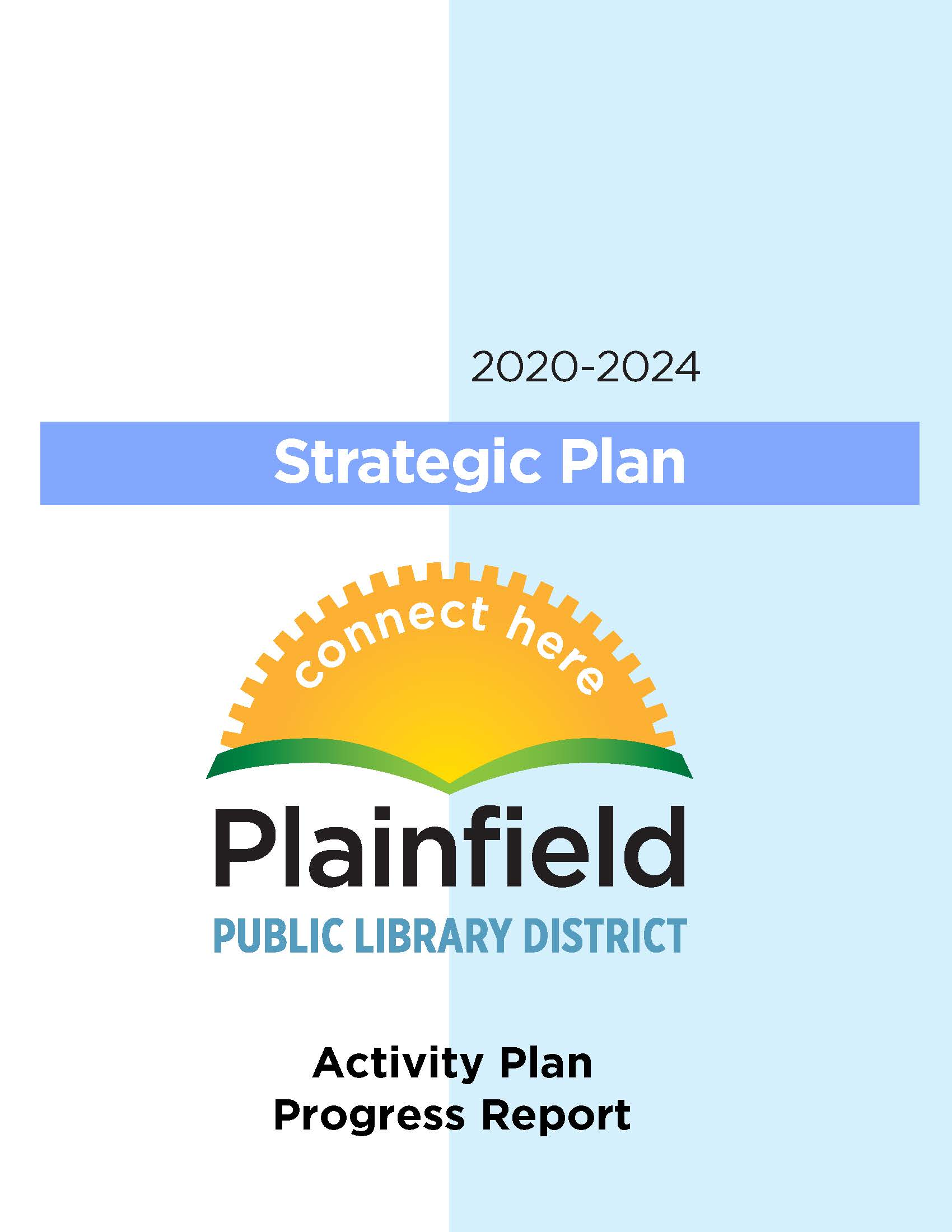Front page of the Library's strategic plan