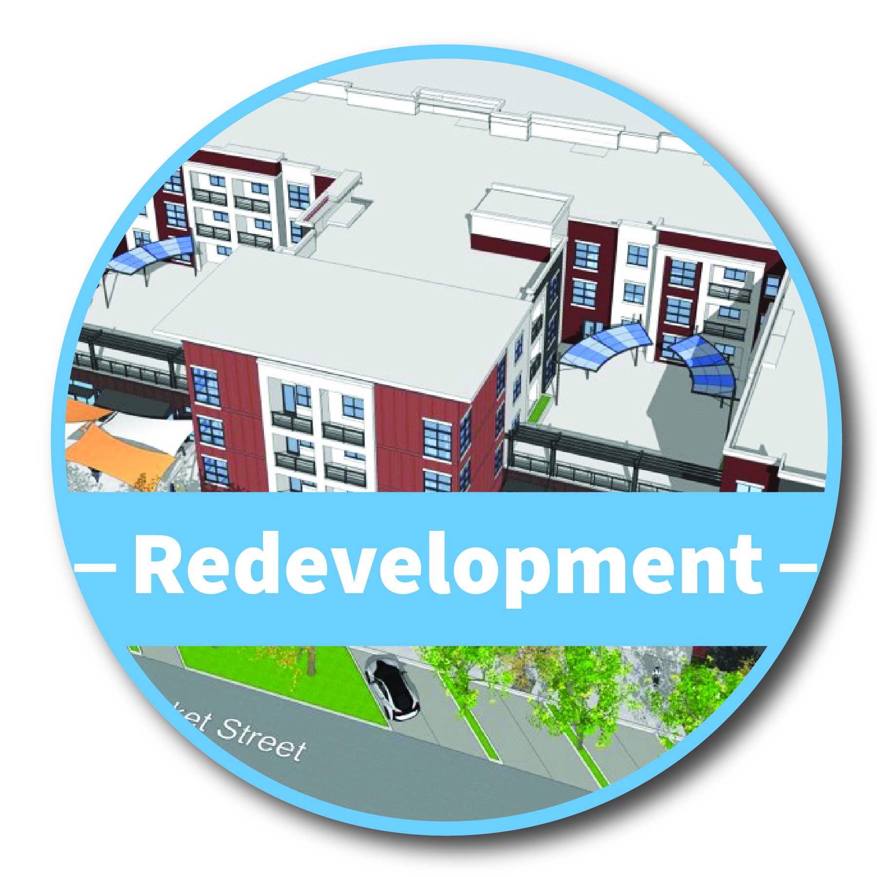 Redevelopment Button