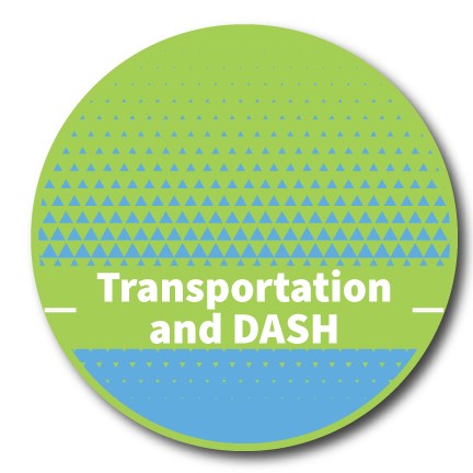Transportation and DASH button