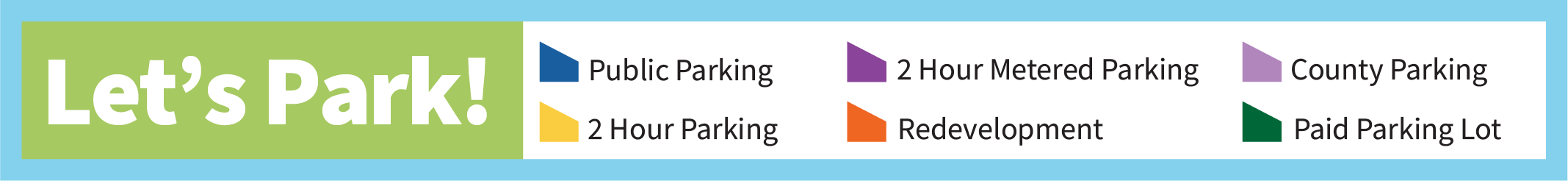 Legend for downtown parking map