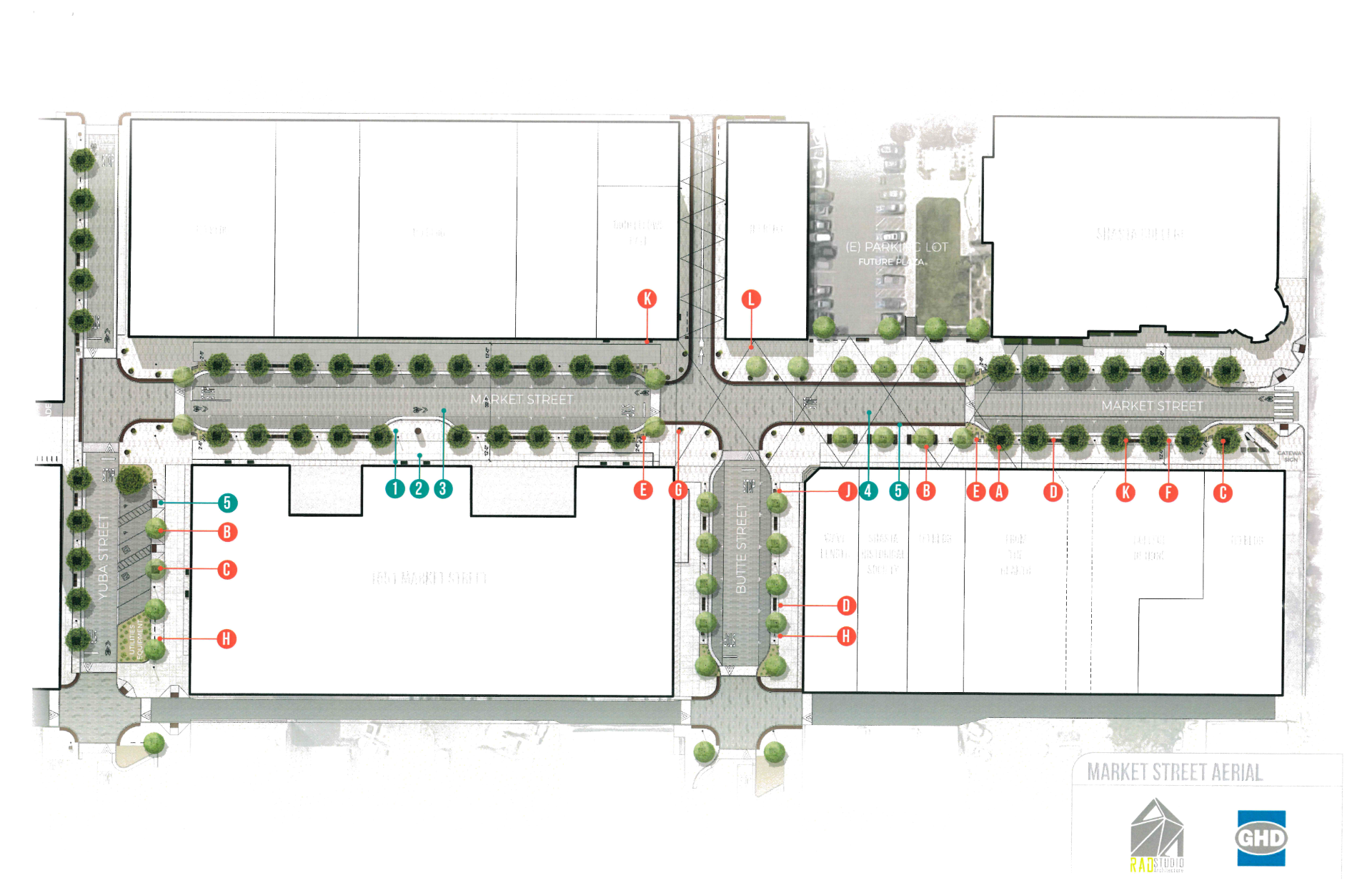 Rendering of Street Circulation Project