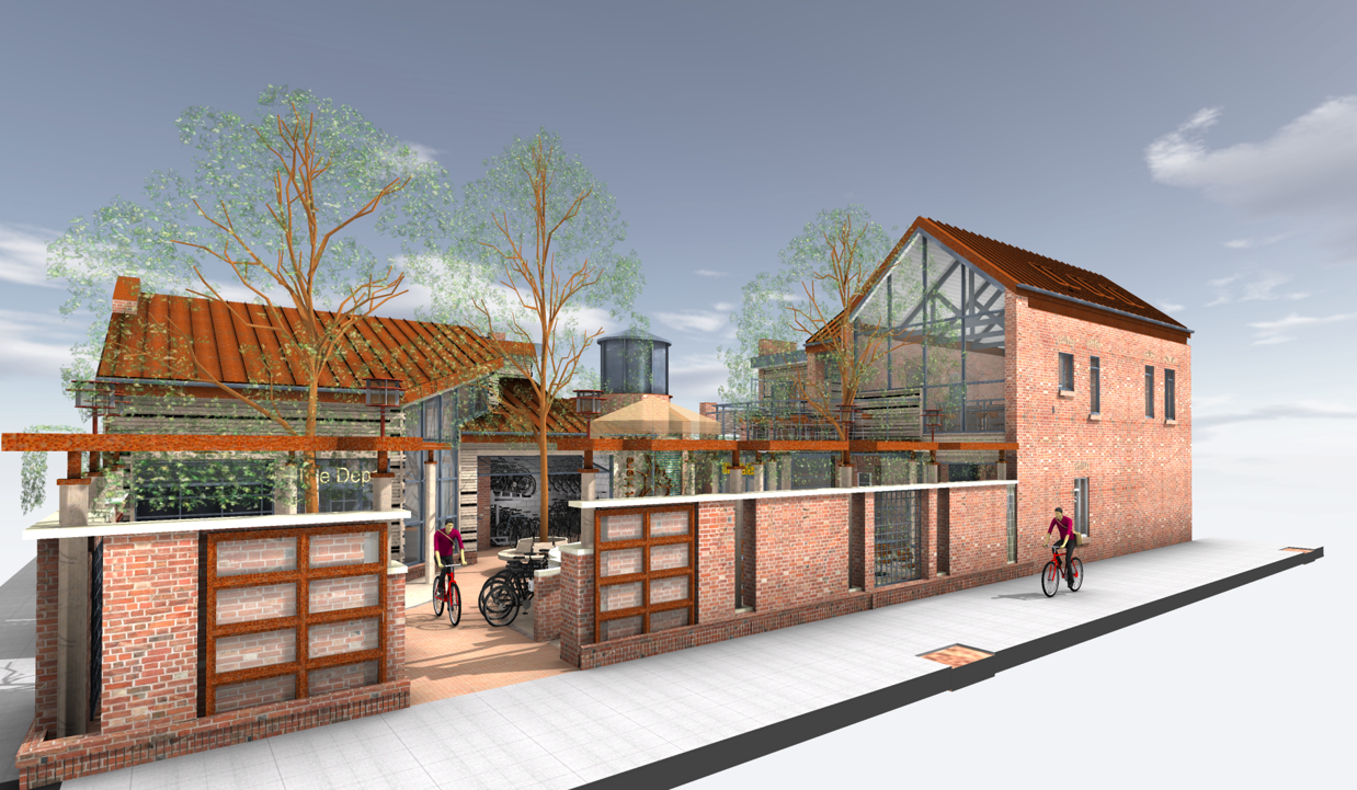Rendering of Bike Depot