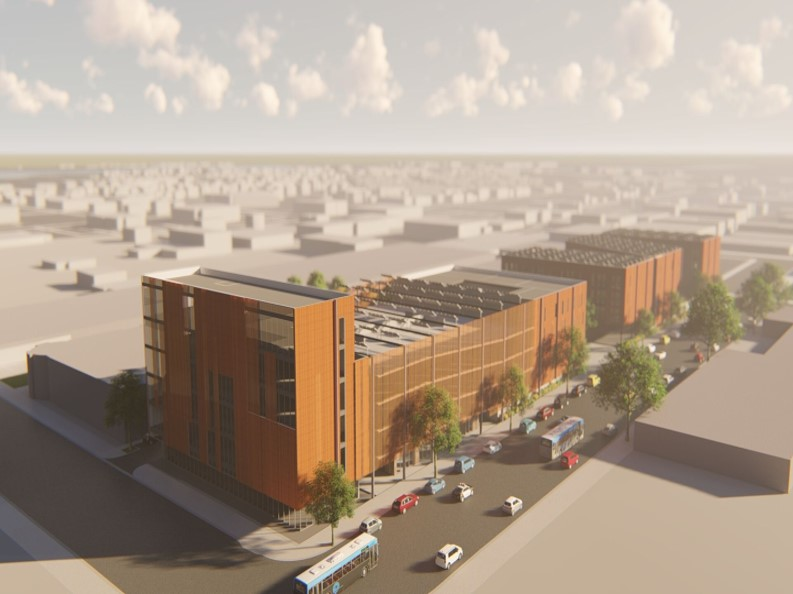 Rendering of CA Street Mixed Use Development
