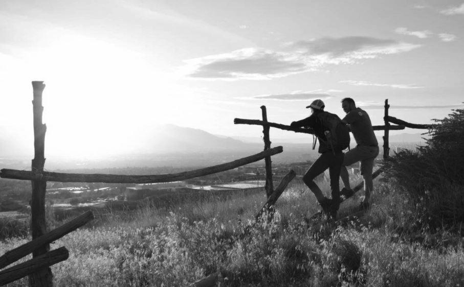 Trail users overlooking Salt Lake valley