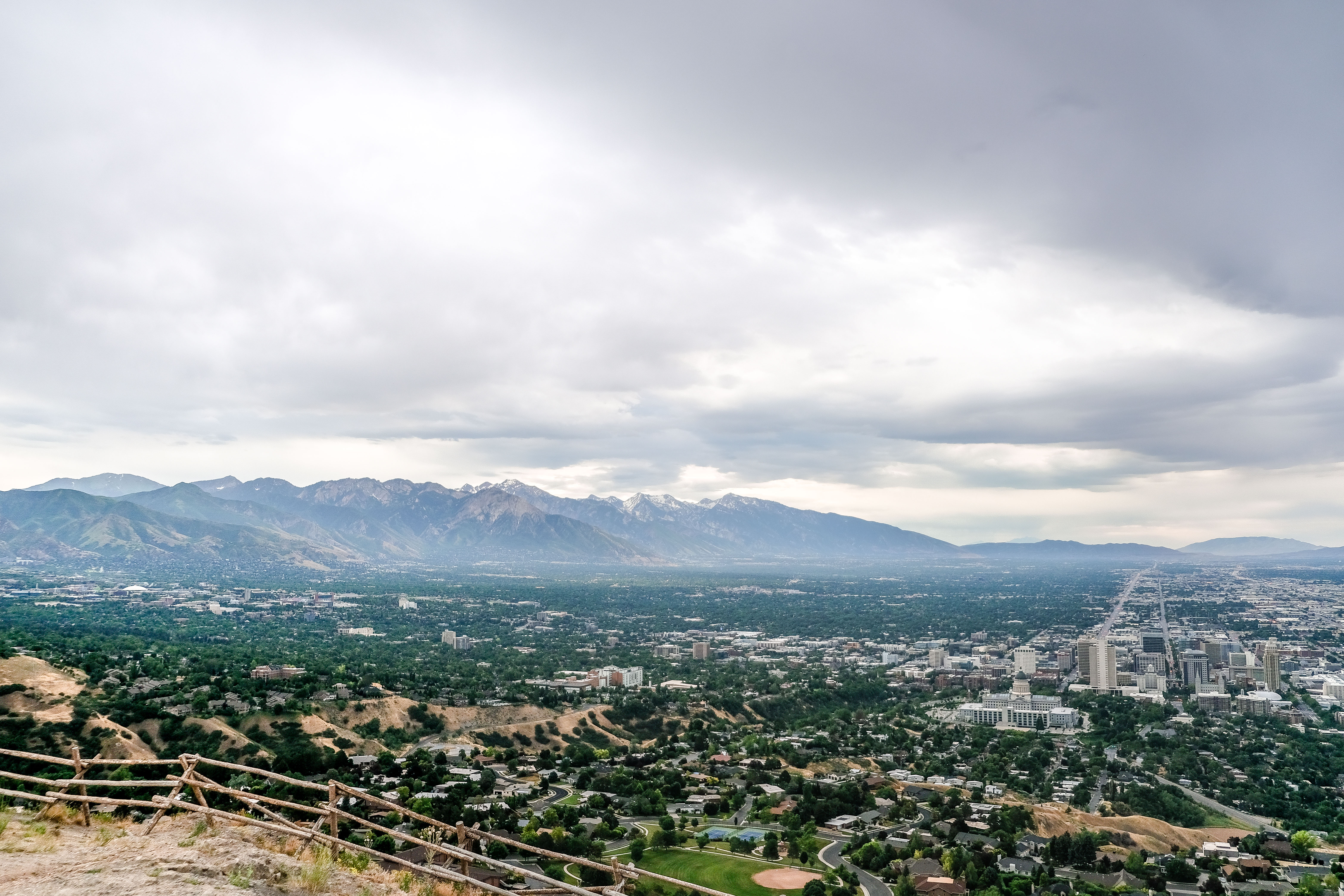 View of the salt lake valley looking south
