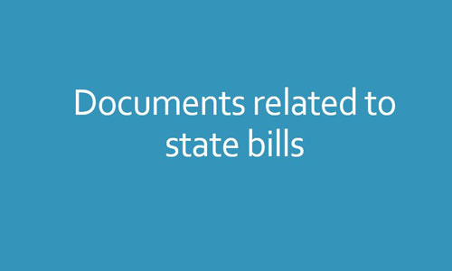 Documents related to state bills