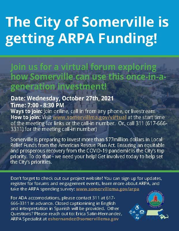 English ARPA Kickoff Flyer