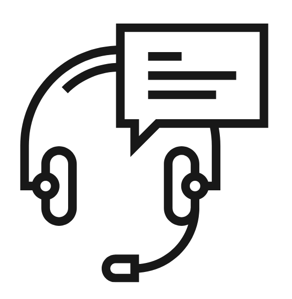 Image of a headset with comment box