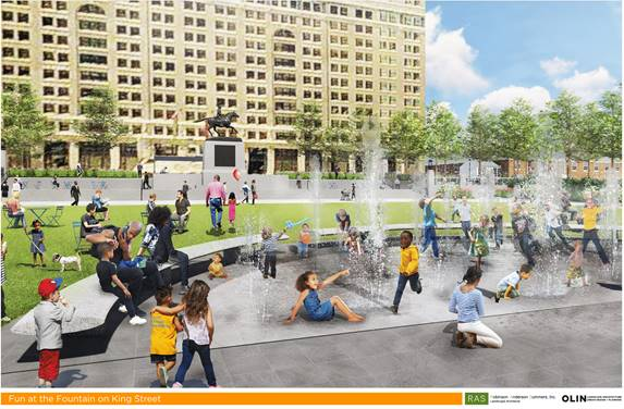 Rendering of Rodney Square Fountain